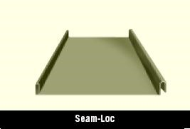 Seam Loc Roof Panel for a Steel Building