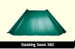 Standing Seam 360 Roof Panel in a Steel Building