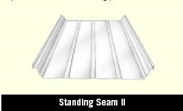 Standing Seam II Roof Panel in a Steel Building