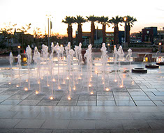 East Los Angeles Civic Center Water Fountain Image